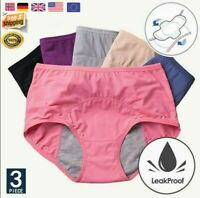 3pcs Leak Proof Menstrual Women Underwear Period Panties Health Seamless Briefs
