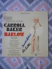 Harlow Original Soundtrack LP cover signed by Carroll Baker & Red Buttons.