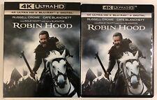ROBIN HOOD 4K ULTRA HD BLU RAY 2 DISC SET + SLIPCOVER SLEEVE FREE WORLD SHIPPING