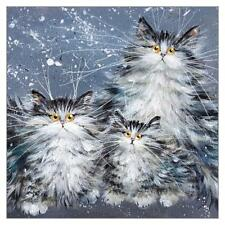 Tomcat Cards - Kim Haskins Cat Greeting Card - Fluffy Tabby Family - Tcc-Kh3675