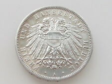 1909-A LOWENSTEIN-WERTHEIM/GERMAN STATES 3 MARKS .900 SILVER COIN KM#215