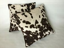 "NEW Set of 2 Covers Cushion Cases Pillow 18''*18"",Faux Cowhide Cow Print"