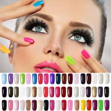Nagellack UV Gellack Gel Lacke Nail Polish Soak Off Maniküre Base Top Farben 8ml