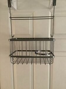 Bathroom Over the Cabinet Door Shower Caddy for Shampoo, Conditioner, Soap