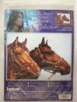 Janlynn Platinum Collection Horse Companions counted cross stitch kit Sealed