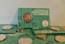 Coincard BU 2 Euros Commémorative France 2021 JO Paris 2024 Olympic Vert