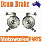 Pair Front Wheel LEFT RIGHT Drum Brake 47cc 49cc Quad Dirt Bike ATV Dune Buggy 2