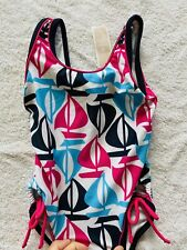 New Old Navy Sailboat Multicolor Swimsuit With Bows 