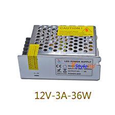 36W LED Power Supply Driver 110V-220V TO DC12V  3A For LED Light Lamp Strips