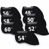 Black Golf Iron Headcover Protective Cover 48°- 60° Can Choose