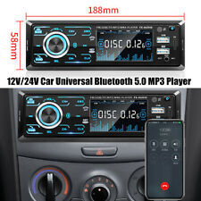 Car Truck Bluetooth50 Hands Free Mp3 Radio Player Sd Card Fast Charge Dash Part