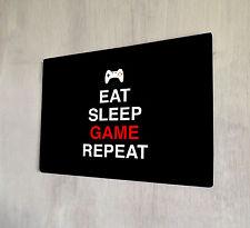 Comer dormir juego repetir citar Gamer Día Del Padre Regalo Idea signo A4 Placa De Metal