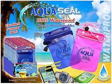 "Waterproof Bag For Cell Phones 5"" X 6"" Triple Seal Construction"