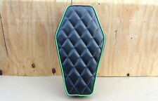 "16"" COFFIN BLACK/L GREEN MINIBIKE SEAT OLD SCHOOL STYLE BOBBER SCOOTER MINI BIKE"