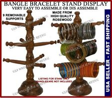Indian Rosewood Wood Bangle Stand Holder Rack Jewelry 9 Tier USA SELLER