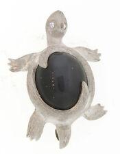 HENRY DUNAY Moonstone & Diamond PLATINUM Turtle Pin - HM800