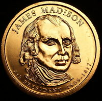 2007 P James Madison Presidential Dollar ~ Pos B ~ From U.S. Mint Roll