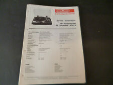 Original Service Manual Schaltplan Nordmende  RP 1200 LINEAR