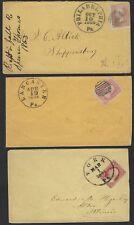 US 1861 1864 Trois Guerre Civile Période Housses Superbe Annulés York
