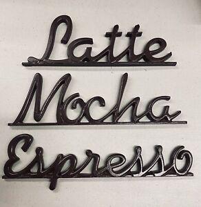 Coffee Metal Words (Latte, Mocha, Espresso)