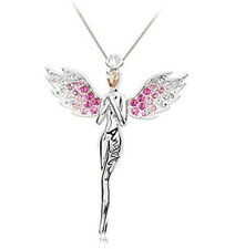 Angel Blessing Collarbone Chain Angell Shape Pendant Necklace 925 silver