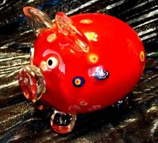 Beautiful - Murano - Millefiori - Pig - Adorable Personality - Must S@@ - L@@K!!