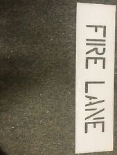 """New listing  4 in Fire Lane stencil,curb stencil for parking lot striping 1/8"""" Ldpe 2 For 35$"""