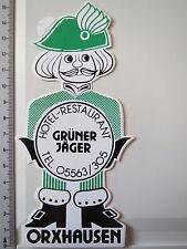 Aufkleber Sticker Hotel Restaurant - Grüner Jäger - Orxhausen (3144)