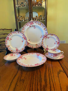 Beautiful 5pc Set of Copeland Spode IRENE Fine Bone China Dinner Setting