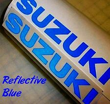 Suzuki REFLECTIVE BLUE 13in 33cm decal 600 sticker gsxr 1000 srad 750 moto gp sv