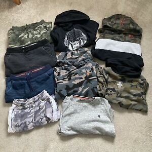 Bundle Next Boys Clothes Age 11 Years Camo Black Hoodie Jumper Trousers Shorts