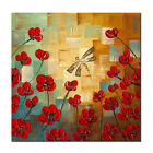 Abstract Hand Paint Oil Painting on Canvas Home Decor Wall Art Flowers Framed