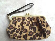 Coach Leopard Framed Kiss Lock Wristlet (Free Shipping)