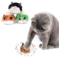 Pet Vibrating Chubby Rat Tease Cat Kitten Toy Plush Mouse Dog Interactive Toys