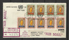 Nations Unies New-York Peru Lima 9 timbres sur lettre tampon date 1963/B5N-U23