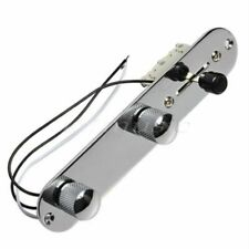 More details for guitar telecaster tele control plate wired fully loaded-chrome. 3way switch
