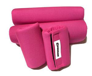 CRUTCHEZE 4 Piece Underarm And Handgrip Covers  Hot Pink Antibacterial NWOT