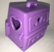 Fisher Price Loving Family Purple Pet Animal Carrier Dog Cat Barbie Accessory