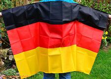 WM EM Umhang Poncho Fan Flagge Fußball Deutschland Germany Neu ca. 90 cmx 146 cm