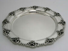 William Kerr Art Nouveau Sterling Silver Tray Iris Pattern