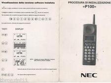 NEC P100 - PROCEDURA DI INIZIALIZZAZIONE - ORIGINALE 92- PIEGHEVOLE - 6 FACCIATE