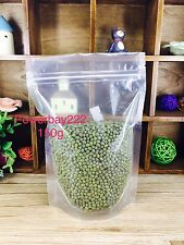 100X 150G Resealable Stand Up Pouch Coffee Bag Food Packaging  Clear