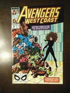 AVENGERS WEST COAST #48 SEPTEMBER 1989 NM NEAR MINT 9.6 SCARLET WITCH VISION