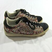 Isabel Marant Etoile Gilly Cholita Calfskin Glitter Leather Shoes Sneakers Sz 36