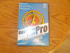 BUSINESS PLAN PRO PREMIER EDITION 2005 BRAND NEW SEALED