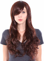 Girls Womens Halloween Wavy Curly Long Hair Cosplay Fancy Dress Full Wigs