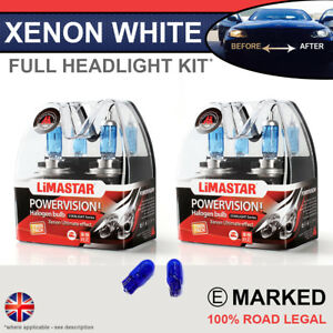 1 Series E81 E87 04-on Xenon White Upgrade Kit Headlight Dipped High Bulbs 6000k