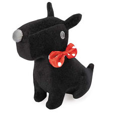 Grriggles Sweetheart Scotties Dog Toys Pet Plush Toy Red Black Gray 4-1/2 inch