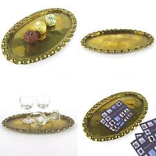 Art Déco Schale Tablett Messing mit Hammerschlag Dekor brass tray 20er 30er