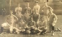 Real Photo Postcard RPPC ~ College Men's Soccer Team 1914 Europe ~ Sports